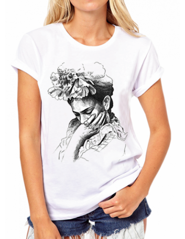 "Camiseta Frida Kahlo ""Carboncillo"""