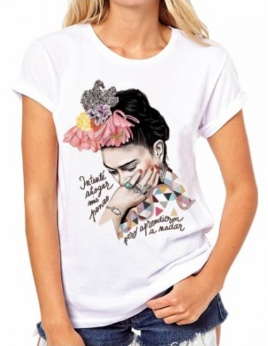 "Camiseta Frida Kahlo ""Intenté ahogar..."
