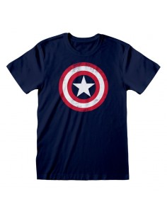 "Camiseta Capitán América ""Shield Distressed"""