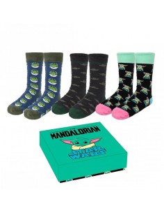 Pack Calcetines 3 Piezas The Mandalorian The Child (Talla 40-46)