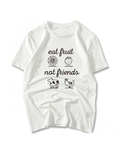 "Camiseta ""Eat Fruit Not Friends"""